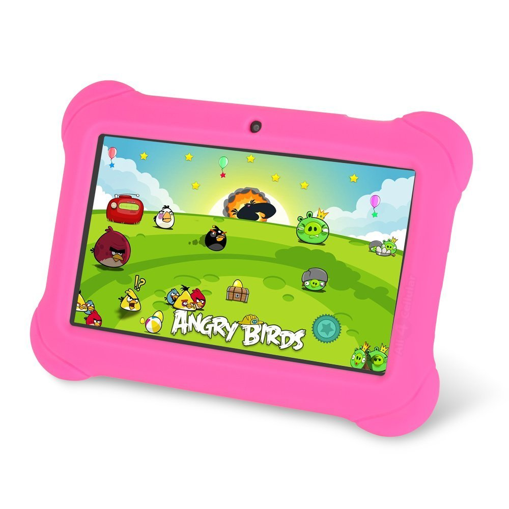 Zeepad Kids TABZ7 Android 4.4 Quad Core Five Point Multi Touch Tablet PC, 7'', 4GB, Kids Edition, Pink