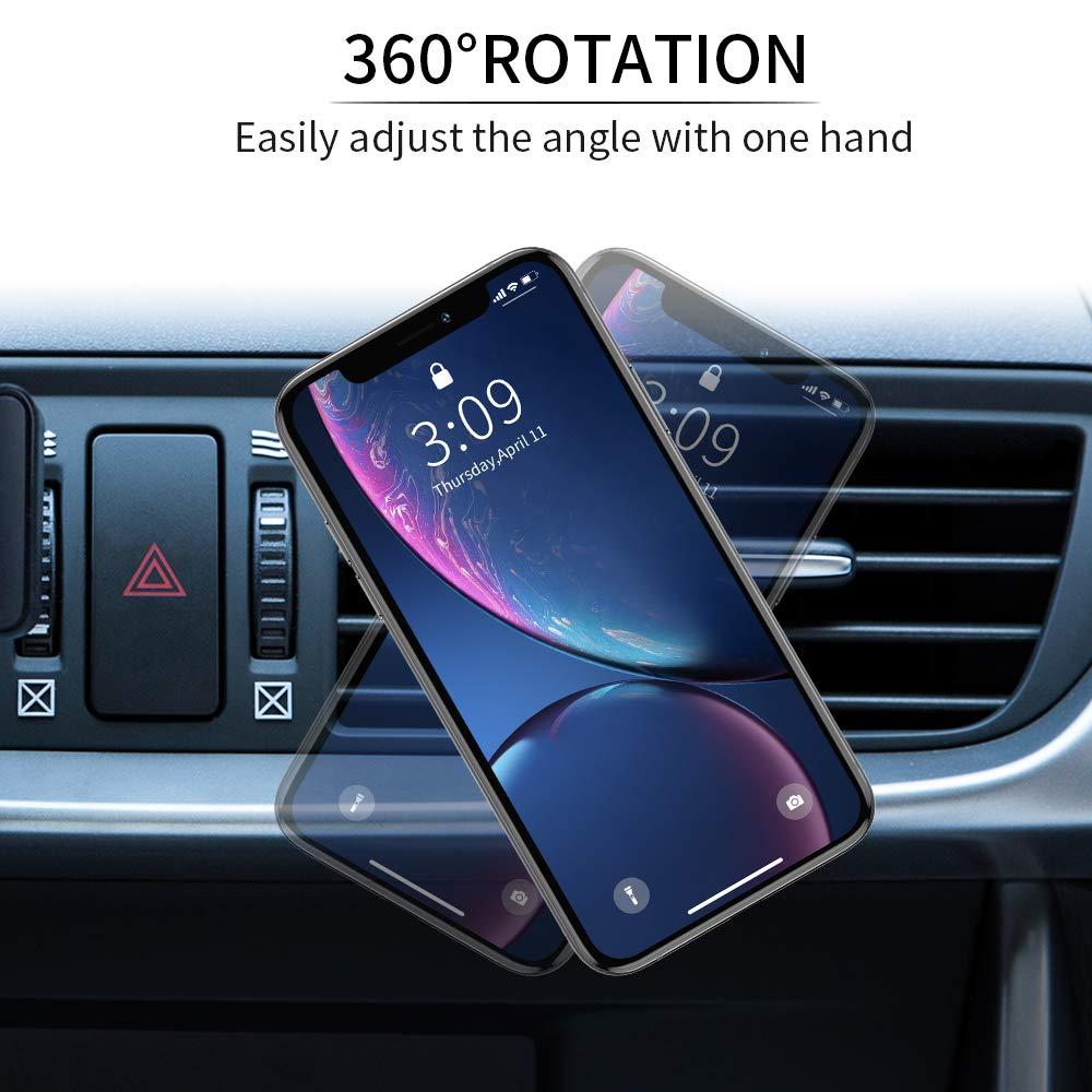 Handy Halter Universale Halterungen F/ür iPhone Samsung Huawei Smartphone und andere Ger/äte Handyhalter F/ürs Auto Mini-Gr/ö/ße Warxin Magnet KFZ Handyhalterung f/ürs Auto L/üftung Stark Magnetisch