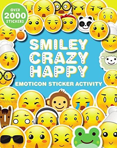 [Kids Teens Emoji Emojies Expressions Smiley Crazy Happy Laughter Wink Emoticon Sticker Activity (2000] (Smiley Horror Mask)