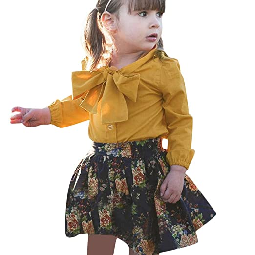 9b0ecbb51 Amazon.com  KONFA Toddler Baby Girls Outfits Autumn Winter Clothes ...