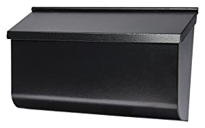 Gibraltar Mailboxes Woodlands Medium Capacity Galvanized Steel Black, Wall-Mount Mailbox, L4010WB0