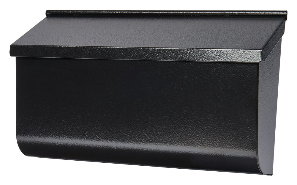 Gibraltar Mailboxes Woodlands Medium Capacity Galvanized Steel Black, Wall-Mount Mailbox, L4010WB0