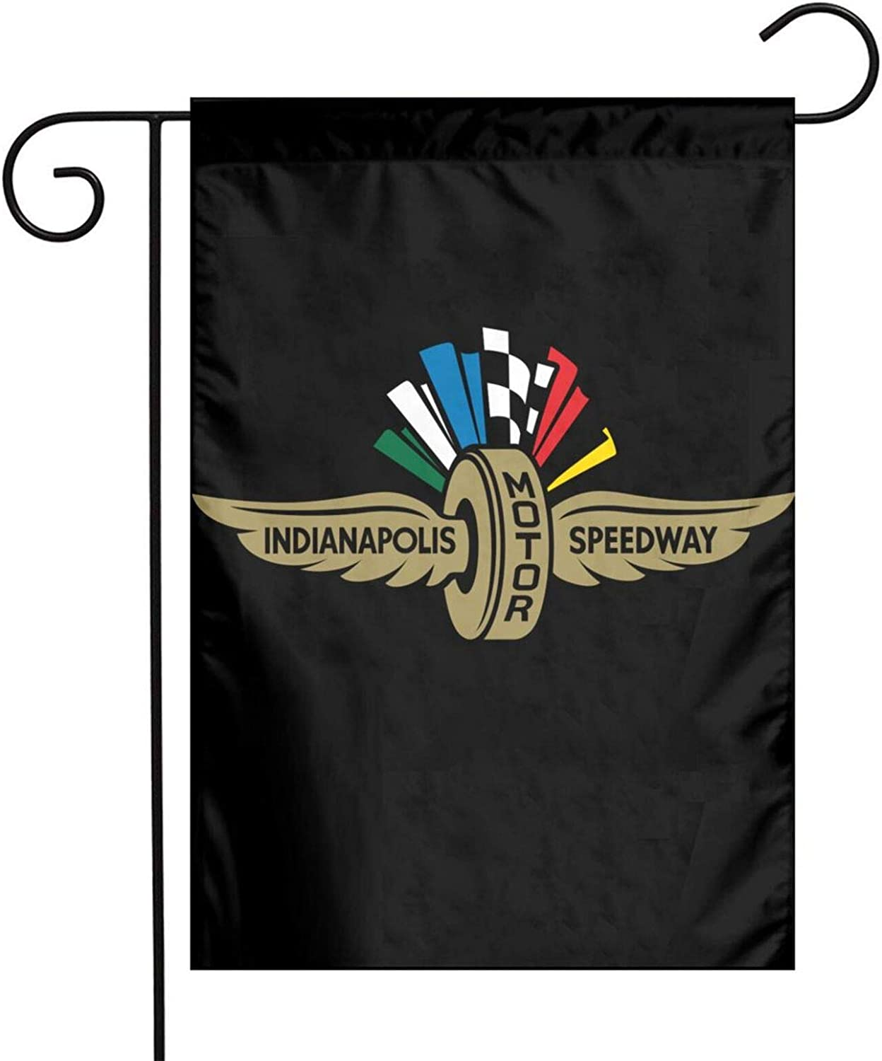 Azzwoiu Indy 500 Garden Flag Welcome Home Decorative Double Sided Outdoor Vertical Yard Seasonal Outdoor Flag 12 X 18