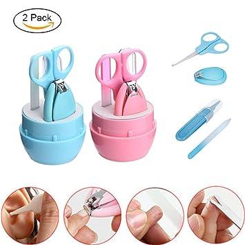 Kit de manicura para bebé, 4EVERHOPE, 2 unidades de cortauñas para bebé con tijeras
