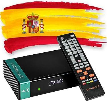GTMedia V8X Actualizar Desde V8 Nova Receptor de Satélite DVB S2X Support 1080P Full HD PowerVu Biss chiave Set Top Box con Built-in WiFi