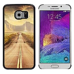 Caucho caso de Shell duro de la cubierta de accesorios de protección BY RAYDREAMMM - Samsung Galaxy S6 EDGE - Road scenery