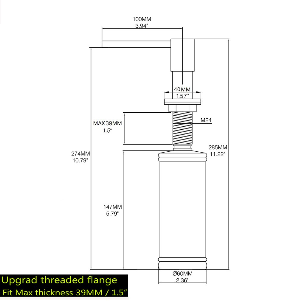 LAZADA Modern Chrome Built in Pump Kitchen Sink Dish Soap Dispenser, Dish Kitchen Soap Dispenser Pump by Fonveth (Image #6)