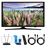 Samsung 48-Inch Full HD 1080p Smart LED HDTV (UN48J5200) w/ TV Cut the Cord Bundle Includes, Durable HDTV & FM Antenna, Universal Screen Cleaner & 2x 6ft High Speed HDMI Cable
