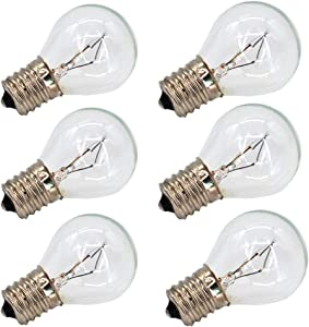 6 Pack S11 E17 Base 40 Watt Bulbs for Lava Lamps,Replacement Bulbs for Lava Lamps,Glitter Lamps