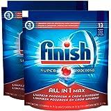 Finish Power All In 1 Max Polvo Lavavajillas, Paquete de 2