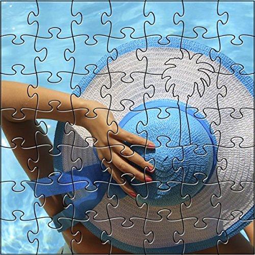 【あす楽対応】 Zen 204ピース Puzzles アーティザナルブルーハット プールサイド木製 M Puzzles Zen 204ピース ジグソーパズル B07FB2GT1Q, カホクマチ:a414669d --- 4x4.lt