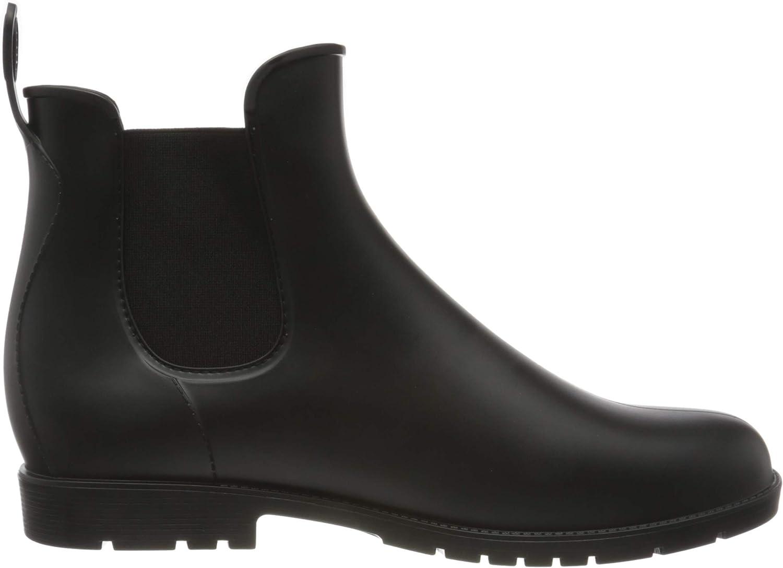 Nzcm - Stivali di gomma impermeabili da donna e uomo, con tacco a blocco, taglia: 35-43 Nero