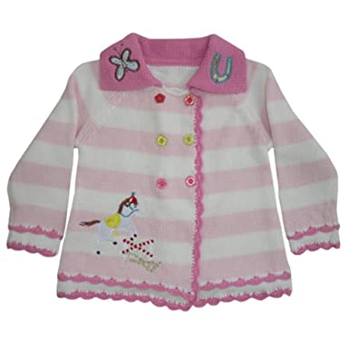 3dc43f66d Powell Craft Pony Cotton Knit Pram Coat Cardigan.Pink  Amazon.co.uk ...