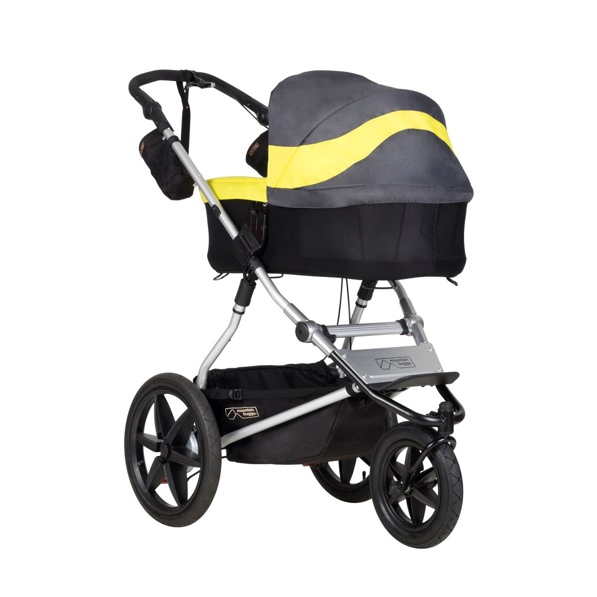 Graphite Plus One Mountain Buggy Carrycot Plus with 3 Seat Modes for 2015 Terrain and Urban Jungle