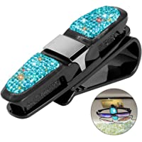 SAVORI Auto Car Vehicle Sun Visor Clip Holder for Sunglasses Car Accessories Bling Double Layer Glasses Holders for Car…