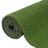 SKB Family Artificial Grass 6.6'x16.4'/0.8''-1'' Green Outdoor and Indoor Garden Wedding Plant Decor