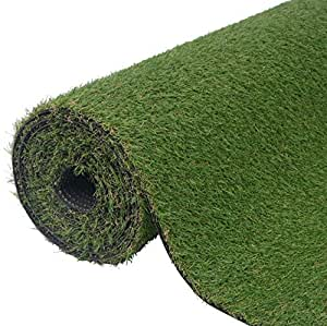 "SKB Family Artificial Grass 6.6'x16.4'/0.8""-1"" Green Outdoor and Indoor Garden Wedding Plant Decor"