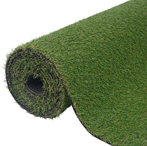 SKB Family Artificial Grass 6.6'x16.4'/0.8''-1'' Green Outdoor and Indoor Garden Wedding Plant Decor by SKB Family (Image #3)