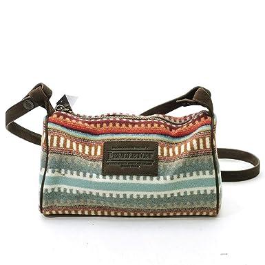 2473753697 Amazon.co.jp: (ペンドルトン) PENDLETON Travel Kit Wiht Leather Strap GD120 バッグ  ショルダー (54456(AMERICAN WEST))  並行輸入品   服&ファッション小物