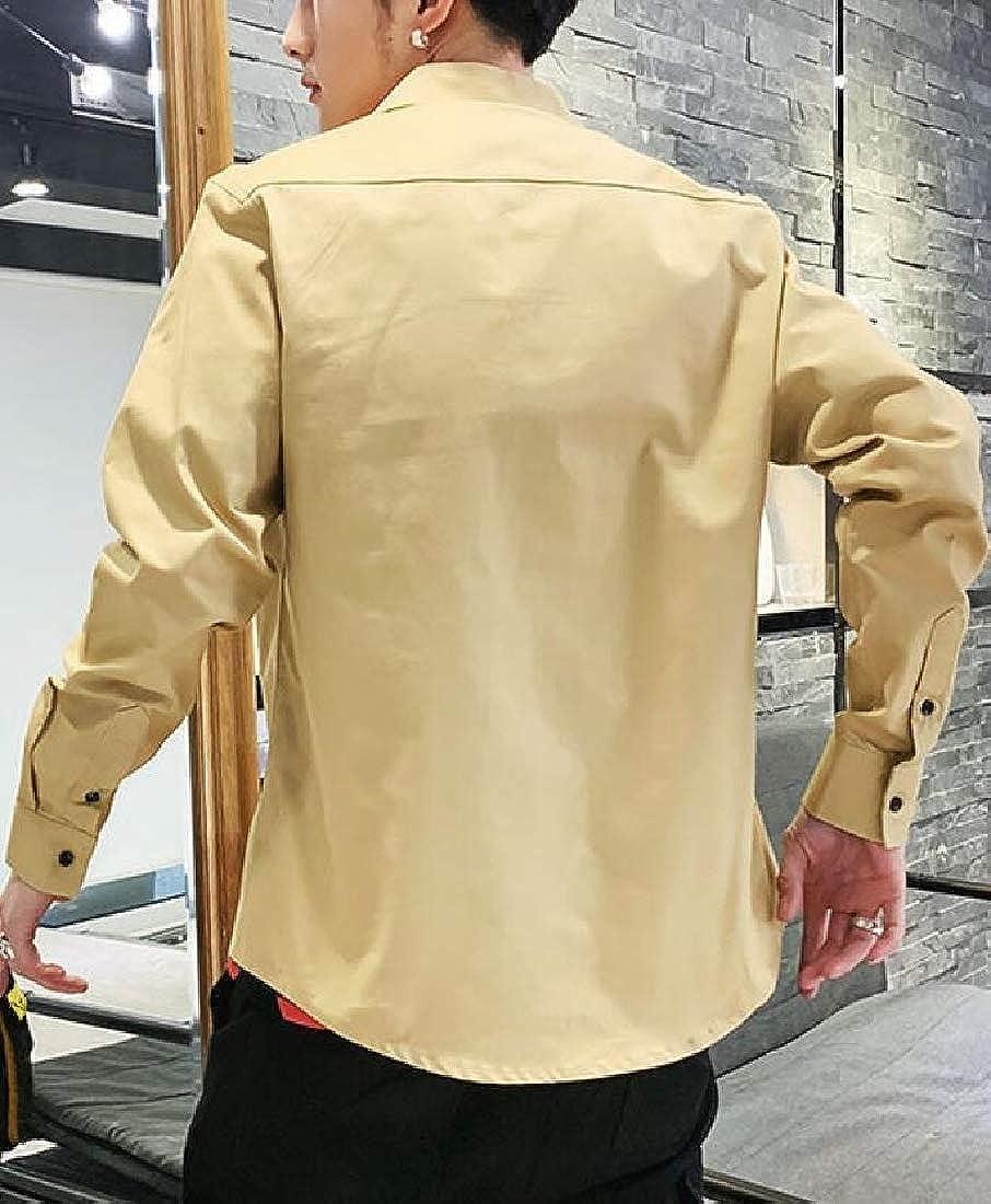 Beloved Mens Casual Dress Shirt Button Down Shirts Long-Sleeve Work Blouses Shirt