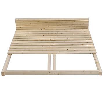 Tuga Holztech Stabiler Unbehandelter Massivholz Lattenrost 300kg 140 X 200 Cm Bestehend Aus Rollrost Inkl Rahmen Ideal Auch Als Palettenbett Nutzbar