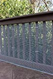 Cardinal Gates Heavy-Duty Outdoor Deck Netting, Translucent white ,  15'