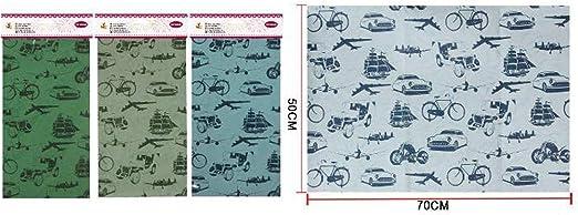 Pack de 3 paquetes de papel de regalo Kraft medidas 50x70cm Diseño ...