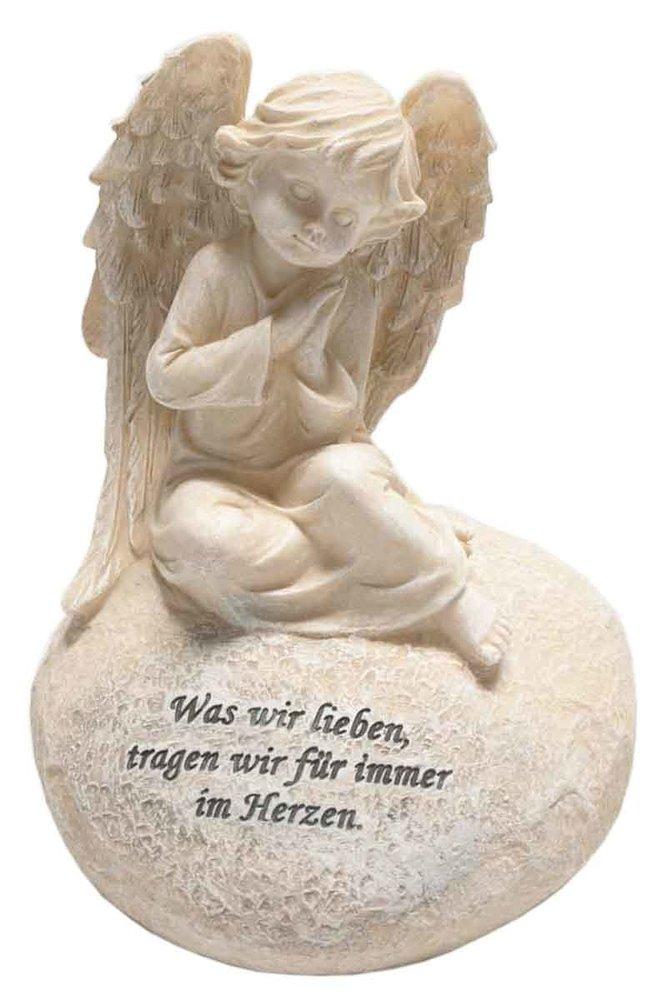 HUWI Ángel en Corazón con Mensaje steinweiß luto Ángel 20 cm Figura de  ángel con alas 6f3eaf90a094