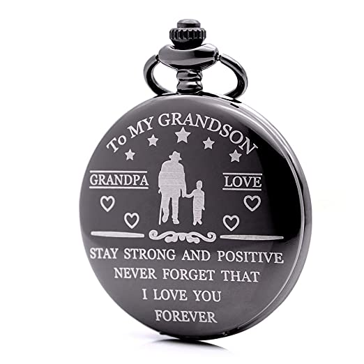 Reloj de Bolsillo Grabado con la Frase en inglés Idea Nieto, Abuelo, Amor, Nunca Olvides Que te Quiero para Siempre: Amazon.es: Relojes