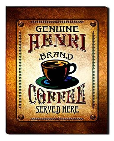 Amazon.com: Henri Brand Coffee Gallery Wrapped Canvas Print ...