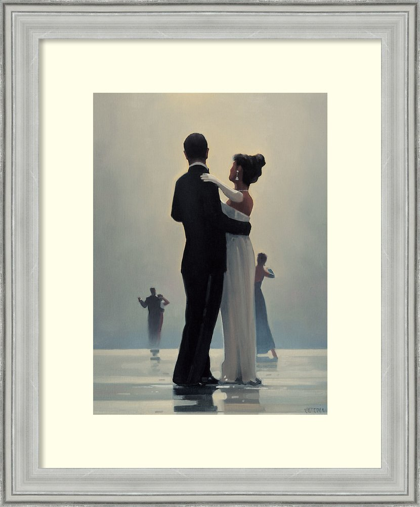 Framed Art Print 'Dance Me to the End of Love' by Jack Vettriano: Outer Size 19 x 23