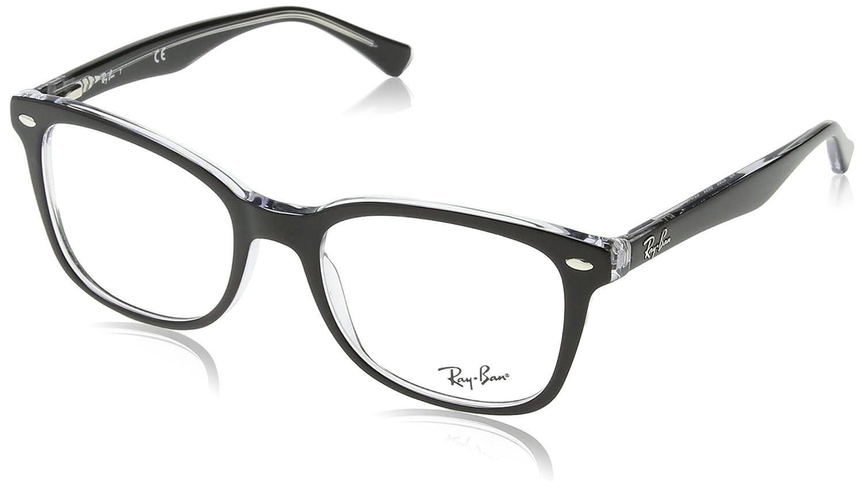 Ray-Ban 0Rx5285 Monturas de gafas, Rectangulares, 53, Top Black on ...