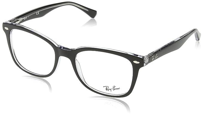 cf4fa2c70c31 Ray Ban Optical Men s Rx5285 Top Black On Transparent Frame Plastic  Eyeglasses