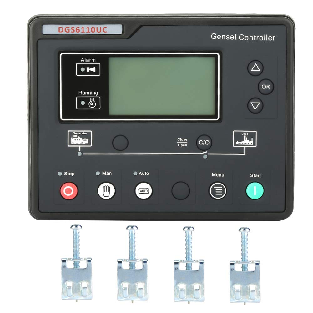 Thincol Electronic Generator Controller,Generator Control Panel, LCD Display with Backlight,Optional Language Interface(Eight Languages Option)