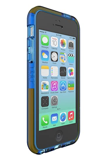 check out c5acb 1fcf7 Tech21 Impact Band Case for iPhone 5C - Blue