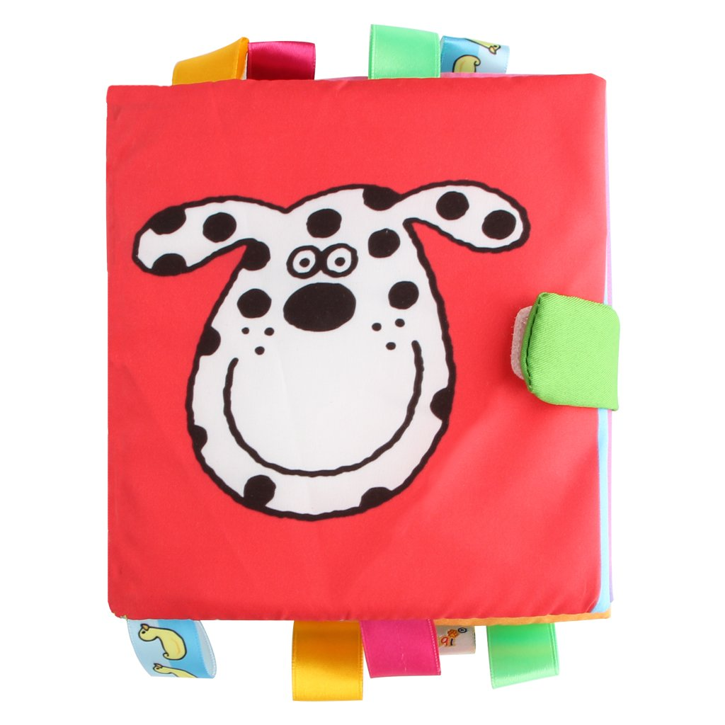 Baby Clothes Books, KAKIBLIN Soft Baby Books Non-Toxic Fabric Crinkle Paper Activity Soft Books for Babies, Toddlers, Educational Toys, Giraffe BS7195KLBL