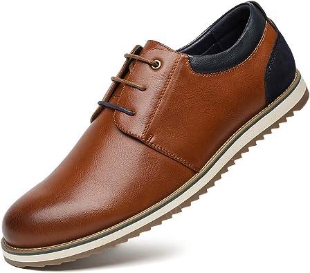 Zapatos Comodos Oxford de Cordones para Hombre Zapatos