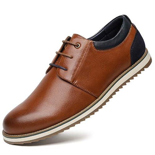 b40447bbfb468 Zapatos Comodos Oxford de Cordones para Hombre - Zapatos Formal Derby Cuero  de Imitación Hombre