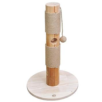 PET Árbol rascador para Gatos Caesar, Poste de Madera con sisal y Bola para Jugar, Altura 72 cm: Amazon.es: Jardín