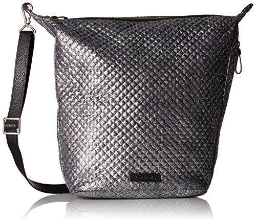 Mist Bag (Vera Bradley Halo Carson Hobo Bag-Metallic Microfiber, Mist)