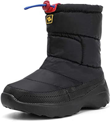 ALEADER Boys Girls Winter Boots Slip On