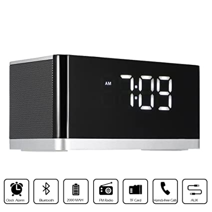 d8c35cad2c3 Mobipro Portable(Musky)5-In-1 Bluetooth Speaker Wireless With Alarm Clock