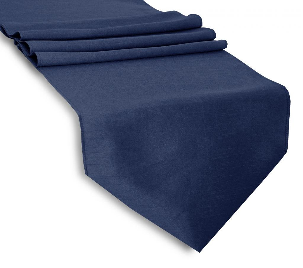 Aiking Home (Pack of 12)13''x 72'' -Solid & Unlined Classic Faux Silk Table Top Runner , Navy--Perfect for Party Decor, Baby Shower ,Wedding, Thanksgiving, Christmas or any Special Event by Aiking Home Collection