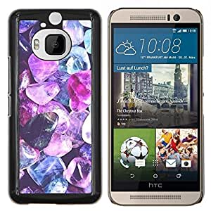 Dragon Case - FOR HTC One M9+ / M9 PLUS - purple crystal gem blue jewel diamond - Caja protectora de pl??stico duro de la cubierta Dise?¡Ào Slim Fit
