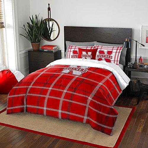 Northwest COL 836 2 Shams NOR-1COL836000006BBB 76 x 86 Nebraska Cornhuskers NCAA Full Comforter Set, Soft & Cozy