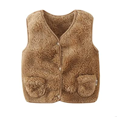Girl //Boys Winter Jacket Vest Sleeveless Warm Waistcoat Padded Coat Age 2-8 Yr