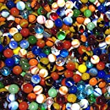 Mega Fun One Pound 1/2'' (12mm) Rainbow Pee Wee Mix Glass Marbles