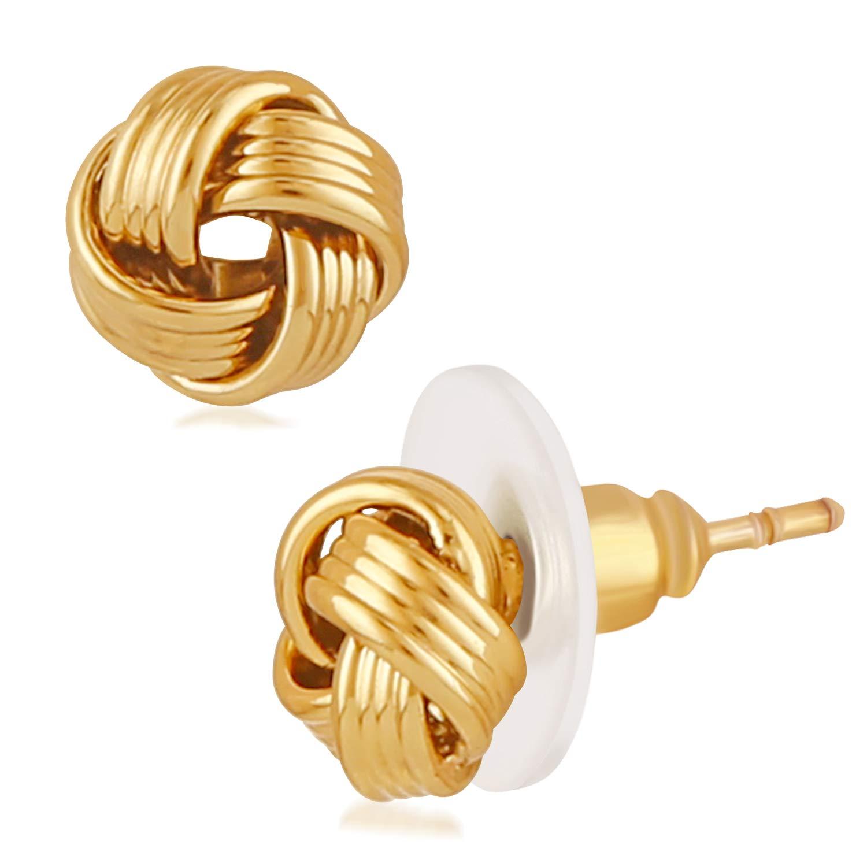 Mahi Gold Plated Glamorous Stud Earrings for Girls and Women ER1109570G