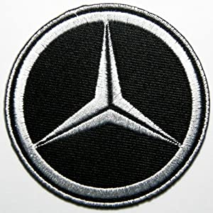 Mercedes benz patches logo car embroidered iron on patch for Mercedes benz iron
