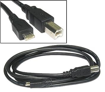 Amazon.com: kenable USB 2.0 Micro A To USB Standard B Cable 2m (~6 ...